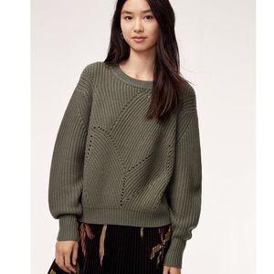Aritzia Wilfred Serment Oversized Sage Sweater S